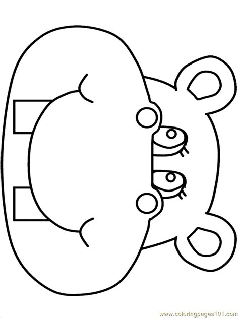 Hippo3 Coloring Page For Kids Free Hippopotamus