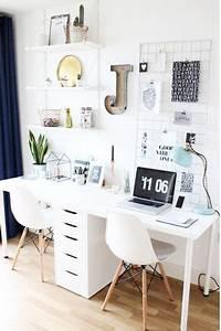 Schreibtisch Zwei Personen : arbeitsplatz ideen wei er schreibtisch f r zwei living office style pinterest wei er ~ Markanthonyermac.com Haus und Dekorationen
