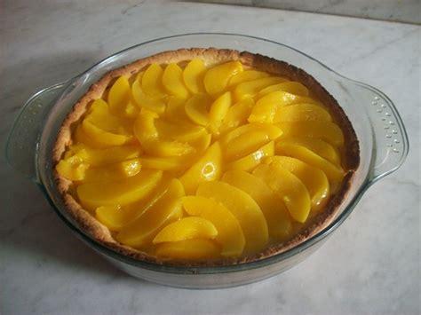 Tarta De Duraznos Con Crema Pastelera!