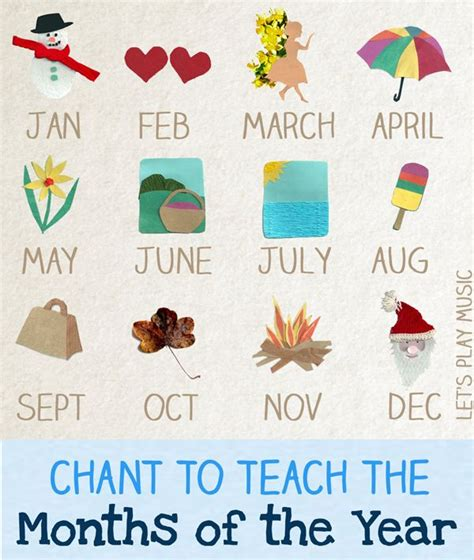 months of the year song for preschool 29 best maths days months seasons images on 260