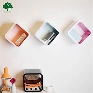 Plastic cube diy storage shelf wall decor j view