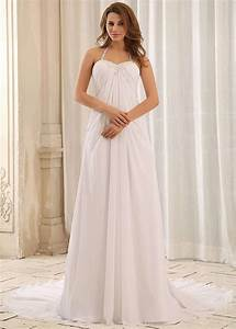 halter top wedding dress simple chiffon bridal gown beaded With simple chiffon wedding dress