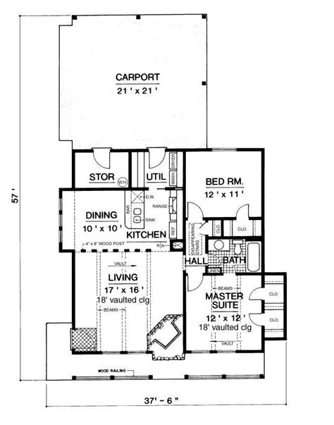 chalet floor plans mountain chalet 900 2366 2 bedrooms and 1 5 baths the house designers