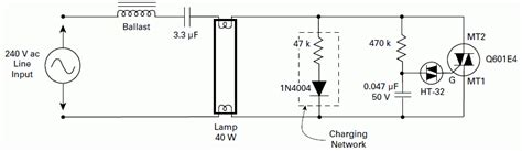 schematics diagrams fluorescent ls electronic starter and ignition schematic