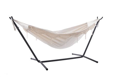 What Stores Sell Hammocks by Vivere Cotton Hammock With Fringe With