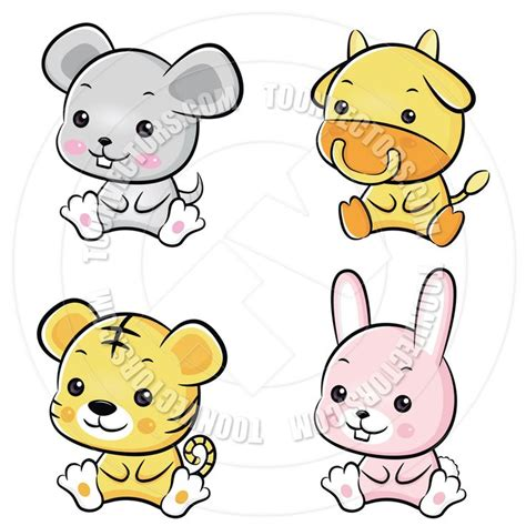 images  cartoon baby animals  pinterest