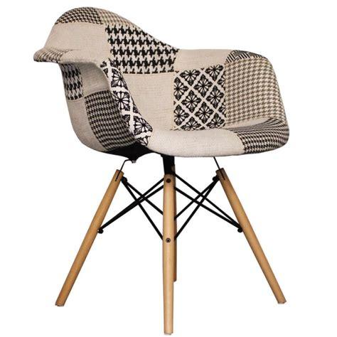 chaise noir et blanc design chaise daw patchwork noir et blanc packtoo