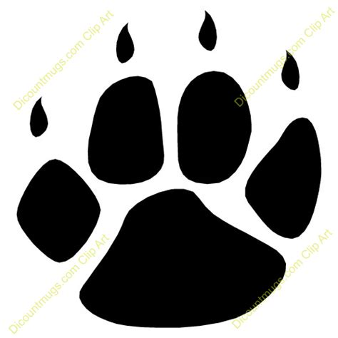 Free Paw With Claws Clipart   Custom Clip Art   12071