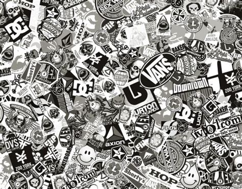 sticker bomb comic film  real logos    cm black