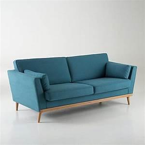 canape vintage 3 et 4 places tasie la redoute interieurs With canapé d angle bleu canard