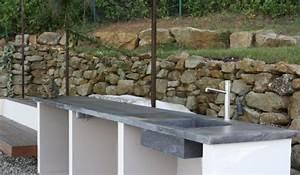 la cuisine beton plan de travail suprabeton balian With plan de travail pour cuisine exterieure