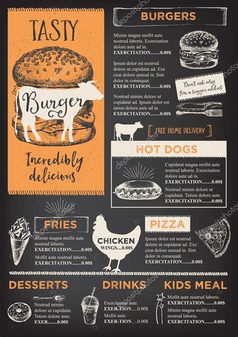 burger menu design stock vector  marchi