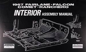 1967 Interior Assembly Manual Fairlane Falcon Ranchero