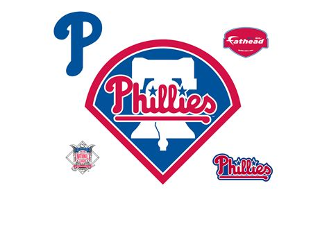 The Phillies Room How To Make A Baseball Card Philadelphia Phillies Logo Wall Decal Shop Fathead 174 For