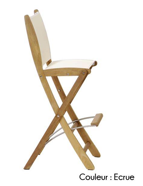 chaise pliante tabouret de bar pliant teck design et pas cher vente