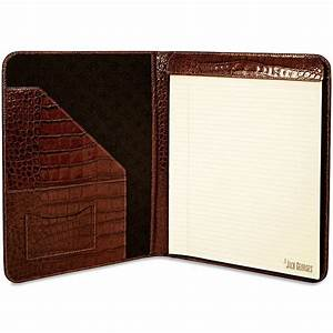 jack georges croco letter size leather writing pad With letter size writing pads
