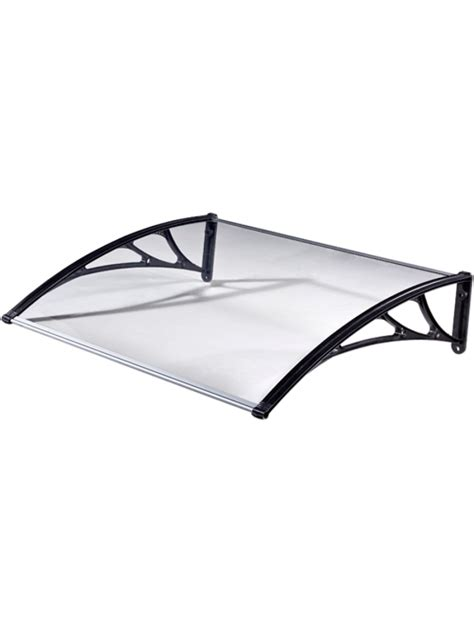 tettoia in policarbonato trasparente pensilina vetro in policarbonato trasparente 100x80cm