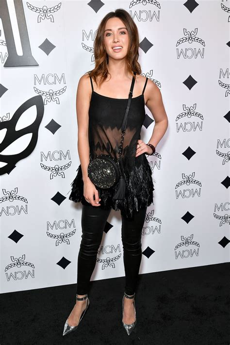 melissa bolona attends mcm global flagship store opening leather celebrities