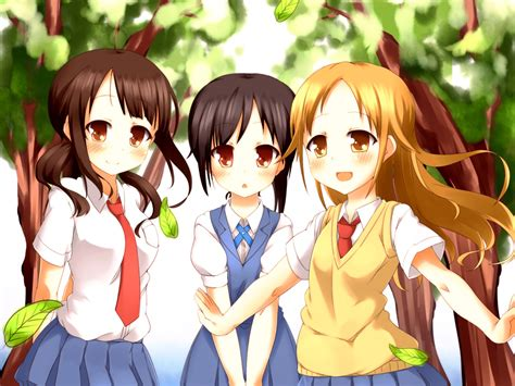 Anime Best Friends Wallpaper - three best friends anime pictures to pin on