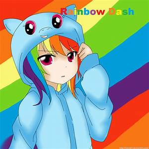 Rainbow Dash human by Fuko221 on DeviantArt