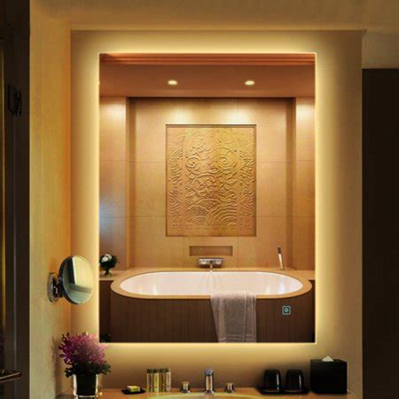 Two Way Mirror Bathroom by Led Wall Mounted Lighted Dimmable Vanity Bathroom Home