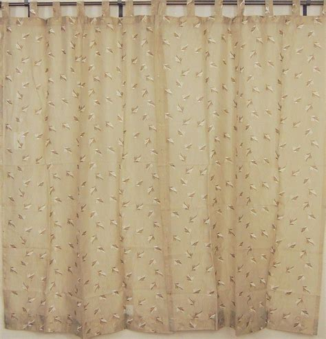 chiffon curtains india tab top sheer panels 2 embroidered ecru decorative window