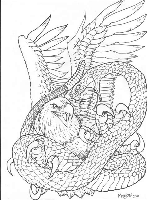 45+ Snake And Eagle Tattoos Collection