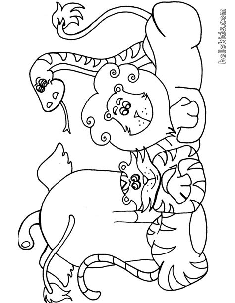 wild animal coloring pages hellokidscom