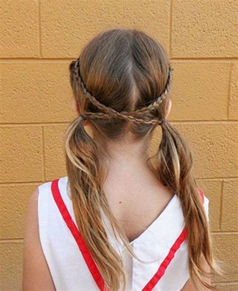 easy pigtail hairstyles criss cross braid pigtails 50 quick and easy girls
