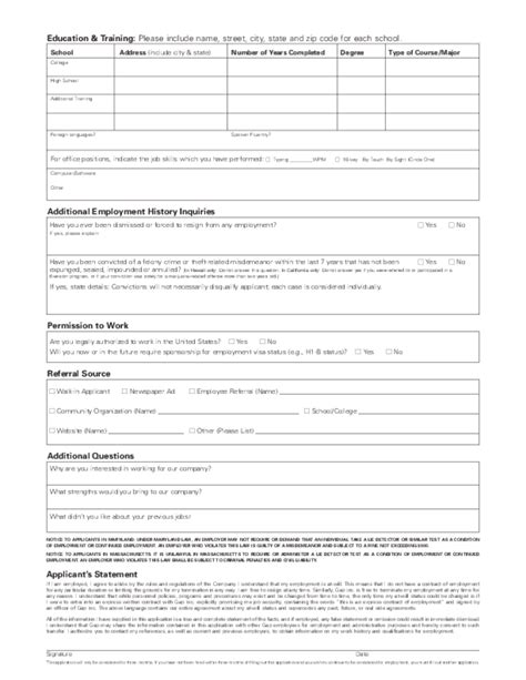 printable  navy job application form page