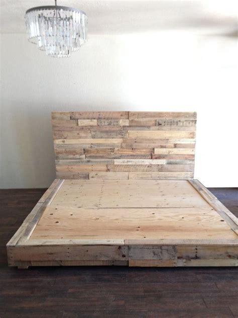reclaimed wood platform bed  natural base twin full