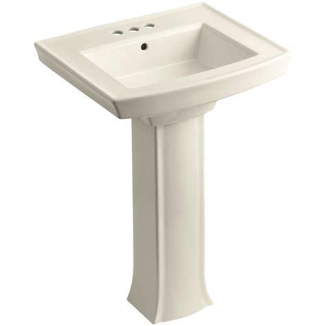 kohler devonshire pedestal combo bathroom sink with 4 in