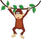 Monkey hanging tree Illustrations and Clip Art. 49 monkey ...