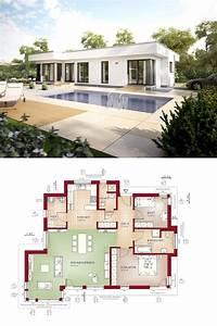 Bauhaus Bungalow Fertighaus : bungalow haus evolution 100 v8 grundriss bien zenker modern bauhaus flachdach terrasse ~ Sanjose-hotels-ca.com Haus und Dekorationen