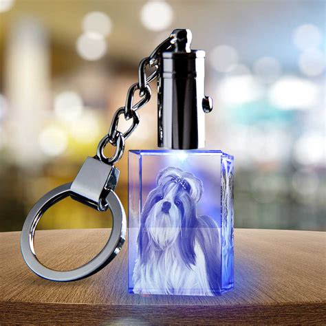 personalized  photo crystal keychain rectangle  crystal gifts   gift