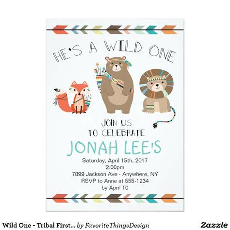 Wild One Tribal First Birthday Invitation Zazzle com