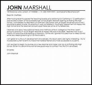 sample cover letter for a new teacher job cover letters With sample teaching cover letters for new teachers