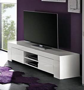 Meuble Tv Messina Laque BlancL 191 X H 45 X P 50
