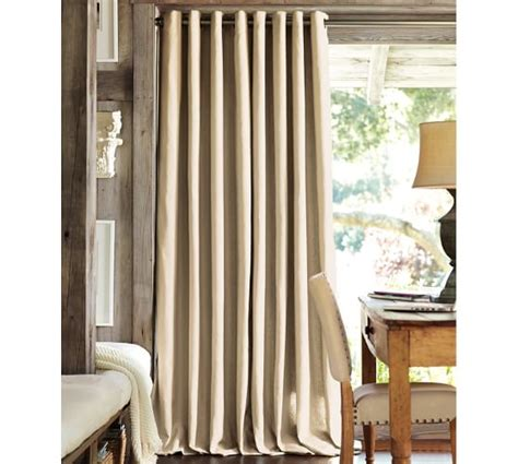 Pottery Barn Curtains Linen by Peyton Linen Cotton Grommet Drape Pottery Barn