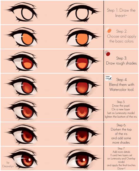 eyes coloring tutorial   deavelyn draw