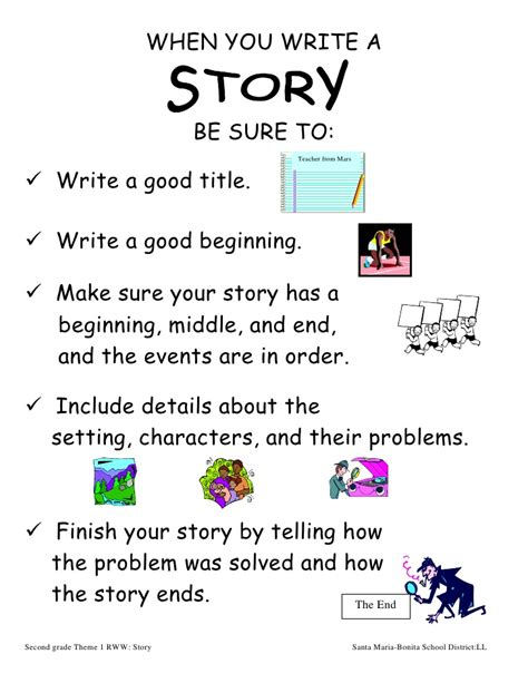 2nd Grade When You Write A Story Theme 1