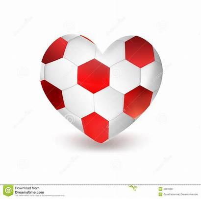 Heart Football Ball Soccer Shape Voetbal Cuore
