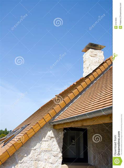 Roof And Chimney Stock Photo  Image 5157850