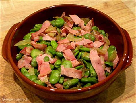 cuisine feve fèves au bacon les légumes cuisinés