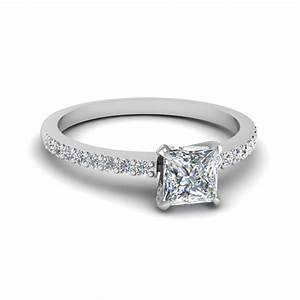 simple princess cut white gold engagement ring With simple diamond wedding rings