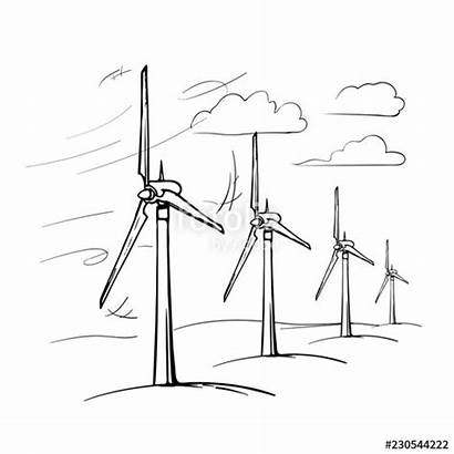 Wind Drawing Energy Renewable Drawings Farm Paintingvalley