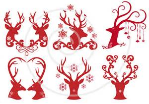 Deer Head Silhouette Clip Art Christmas