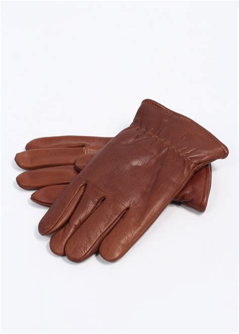 Carhartt Lined Cowhide Leather Gloves Brown
