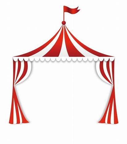 Clipart Tent Circus Border Clip Carnival Stripe
