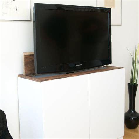 Tv Lift Möbel by Tv Lift With Ikea Besta Home Fernseher Verstecken